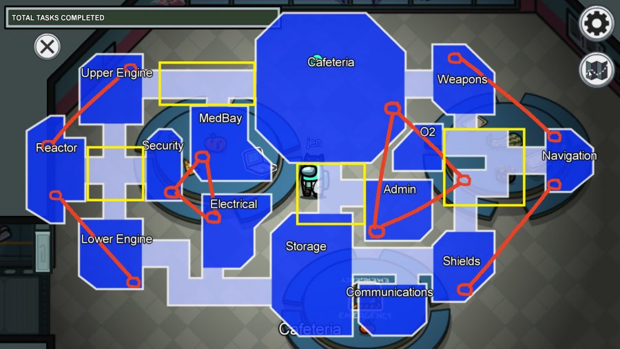 Mapas Among Us: ubicaciones de ventilación, emergencias y tareas visuales