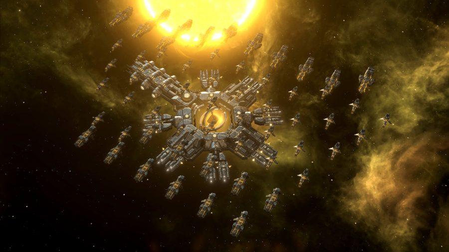 Un mega astillero en el gran juego de estrategia stellaris